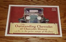 1929 Chevrolet Full Line Sales Brochure 29 Chevy Roadster Phaeton Coupe