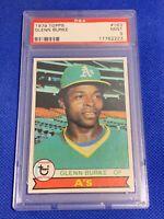 1979 Topps Glenn Burke Oakland Athletics #163 PSA 9 MINT