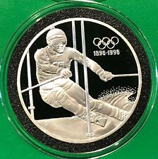 1996 Winter Olympics 34 Grams Sterling Silver .925 Collectible Coin Round Medal