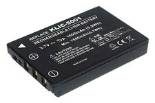 Akku für Sanyo Xacti VPC-HD1000 VPC-HD1010 VPC-HD1010BK VPC-TH2, 1 Jahr Garantie