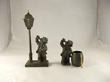 Antique Drunk Table Bar Top Cigar Lighter Match Holder Drunk Drinking Oil Lamp