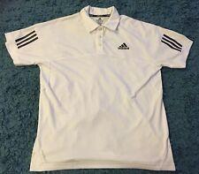 Adidas clima 365 formación T. Shirt Top tamaño mediano Blanco Gimnasio Entrenamiento Físico!