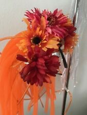Handmade Party or Burning Man Headpiece Fall Ukrainian Mexican Frida Flowers!
