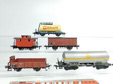 bb139-1 # 5 X FLEISCHMANN H0 / DC Vagón de mercancía etc. DB / US: 581854/581464
