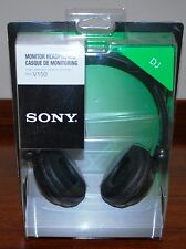 NEW SONY MDR-V150 BLACK Monitoring DJ Stereo Headphones MDRV150 Original