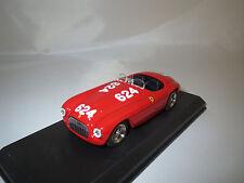 """ART Model  Ferrari  166 MM  SP  Mille  Miglia  #624   """"1949""""  (rot)  1:43  OVP !"""