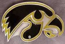 NCAA Pewter Belt Buckle Iowa Hawkeyes NEW
