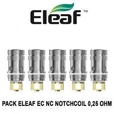 5 résistances ELEAF EC NC NOTCHCOIL 0,25 Ohm pour MELO, IJUST 2 et LEMO 3