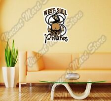 "West Soul Pirates Anchor Boat Ocean Wall Sticker Room Interior Decor 18""X25"""