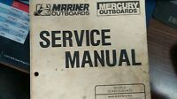 MERCURY SERVICE MANUAL PART# 90-86135-3 SM O/B 45-75 2S MARINER OUTBOARD ENGINES