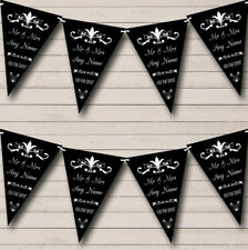 RegalBlack Personalized Engagement Party Bunting Flag Banner