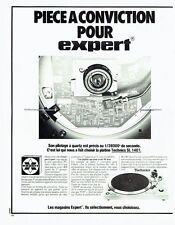 Publicité Advertising 057  1978   Magasins Expert  platine Technics SL 1401