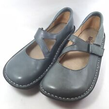 Alegria Womens Dayna Olive Leather Mary Janes Comfort Shoes Day-625 US 9