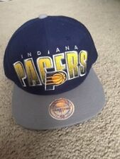 buy popular 9e819 fff30 Mitchell   Ness Indiana Pacers Snapback Hat Cap Navy Blue Vj36z