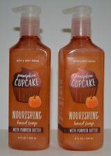 2 Bath & Body Works Pumpkin Cupcake Nourishing Hand Soap Pumpkin Butter 8fl oz