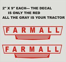 X 2-  FARMALL.. Red Vinyl Decals Stickers 2 X 9