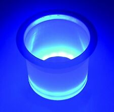 "BLUE GLOWING LED CUP HOLDER  W/ STAINLESS RIM, 3 5/8"" HOLE REQUIRED- BOAT CUP"