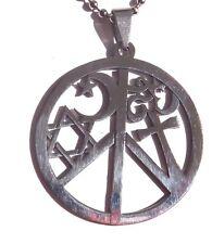 COEXIST religious unity peace symbol pendant silver ball chain necklace love 4E