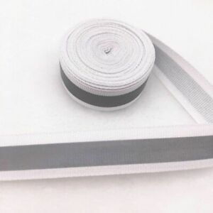 Tape Strap Safety Silver Reflective Sew On Fabric 5 yards
