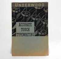 Underwood Vintage Typewriting Manual 1938 Accurate Touch Booklet Typography