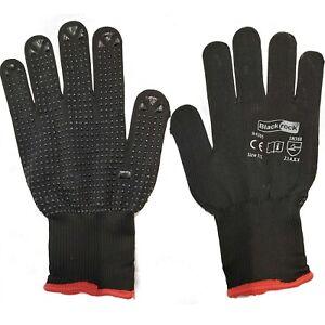 12 Pairs Blackrock Polka Dot Warehouse General Work Card Handling Gloves (84305)