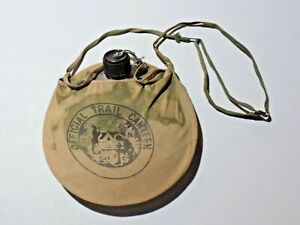 Vintage Boy Scouts of America Official Trail Canteen Metal Cloth Cover Tan