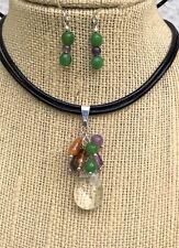 Gemstones Quartz Jasper Amethyst Citrine Necklace SMALL Earrings Chakra USA