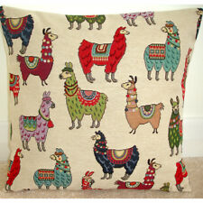 "24"" Cushion Cover Llama Llamas Alpaca Alpacas No Drama 24x24 Red Green Blue"