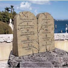 Ten Commandments Indoor Outdoor Garden Sculpture Stone Tablets Hebrew & English