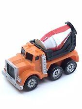 M5 Micro Machines Cement Mixer Truck Diesel Kenworth Orange Big Rig Auto Work