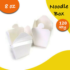 Chinese Party Noodle Box White Noodle Boxes Cardboard 8 Oz 120 pc Small