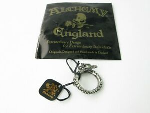 Alchemy England Gothic R183 W/Y Large Vis Viva The Living Power Ring Steampunk