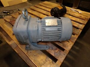 STERLING .75 HP AC ELECTRIC GEAR MOTOR 100 RPM OUTPUT 230/460 VAC TEFC 3 PHASE