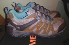 Merrell Womens size 9  Accentor Waterproof  Hiking Trail  Shoes  Brown Blue