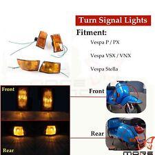 1 Set Front Rear Turn Signal Indicators Blinkers For Vespa P PX VNX VSX Stella