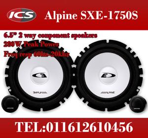 "Alpine SXE-1750S 6-1/2""(16.5cm) Component 2-Way Car Speaker Kit 280W PAIR"