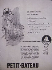 PUBLICITÉ DE PRESSE 1954 SOUS-VÊTEMENTS PETIT-BATEAU - OFFICIER - ADVERTISING