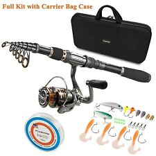 Plusinno Telescopic Fishing Rod And Reel Combos Full Kit, Spinning Fishing Gear