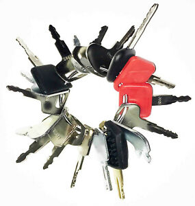18 Keys Heavy Equipment / Construction Ignition Key Set