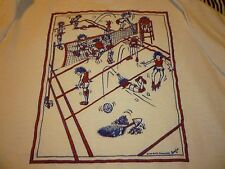 Women's Volleyball Comic Vintage Shirt ( Used Size L ) Vintage Condition!!!