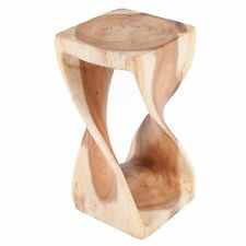 Small Natural Twist Côté Table/tabouret/Acacia massif/Lampe de table/Plant stand