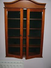 DISPLAY CABINETS  WALL MOUNTED WITH FIVE SHELVES 2 DOOR OPENING