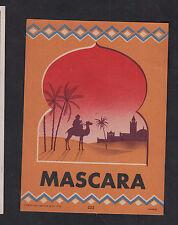 Ancienne étiquette Alcool France Vin   BN10043 Algérie Mascara Camel Chameau