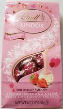 NEW LINDT LINDOR STRAWBERRIES & CREAM WHITE CHOCOLATE TRUFFLES FREE SHIPPING