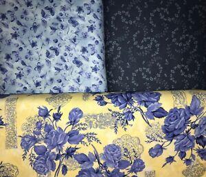 "Quilt, Sew, Fabric Kit Klondike  58"" x 74""  blue/yellow"