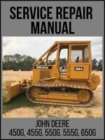John Deere 450G 455G 550G 555G 650G Crawler Repair Technical Manual TM1404 USB