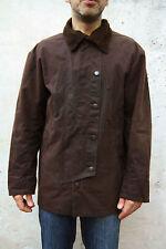 Chaqueta para Hombre Marrón Algodón Encerado rifle S chaqueta de montar a caballo marrón Mod 4866 Vintage