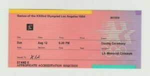 Orig.ticket  Olympic Games Los Angeles 1984 / Closing Ceremony !! VERY RARE