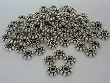 100 pce Metal Antique Bronze Daisy Spacer Beads 8mm Jewellery Making Craft