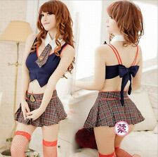 Sexy School Girls Uniforms Cosplay Lingerie Costumes Disfraces
